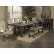 Alpine Furniture Newberry Set Of 2 Tufted Parson Dining Chairs In Salvaged Gray