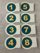 Lot Of 8 Used Gas Pump Number Signs For Gas Station Pump