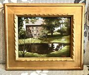 Antique Vintage William Bill Ewing American 20th Century Oil/board Painting