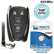 Replacement For 2016 2017 2018 2019 Chevrolet Malibu Remote Car Key Fob Entry