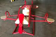 Vintage Airplane Childrens Playground Toy Teeter Totter Seesaw