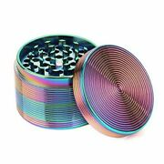 Rainbow Tobacco Herb Grinder 4 Piece 2.5 Inch Colorful Spice Crusher