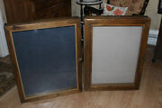 2 Large Antique Vintage Hand Crafted Wood And Glass Display Showcases Cases 30