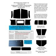 Body Panel Insulation Cover Kit For 1951-53 Dodge Truck Complete 3 Window Abs