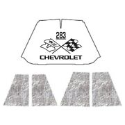 Hood Insulation Pad Heat Shield For 47-54 Chevrolet Truck Under Cover W/ceid-283