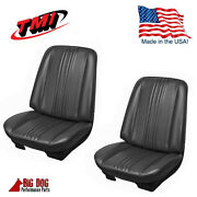 1970 Chevelle Front And Rear Seat Upholstery - Black- Made By Tmi