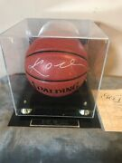 Kobe Bryant 2008 Nba Mvp Autographed Spalding Basketball With Case With Coa