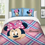 Minnie Mouse Duvet Cover Set For Comforter Twin/full/queen/king Size Bedding Set