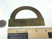Antique Vtg 19th Century Brass/bronze Protractor Ruler Rule Nautical Map Tool