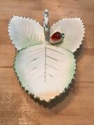 Vintage Ucagco Leaf Dish With A Berry Candy Dish Relish Dish Japan