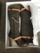 Ugg Collection Australia W Aniela Boots Womens Size 9.5 Army Hand Made In Italy