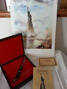 Schrade Statue Of Liberty Commemorative Knife 1886-1986 With Picture 057