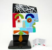 Signed And With Certificate Genuine Italian Picasso Tribute Face Sculpture No 3