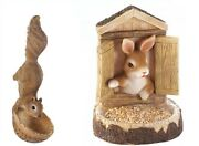 Bird Feeders For Outside Front Yard Decor Wild Seed Bunny Garden Statue Hanging