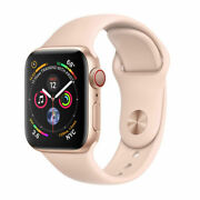 Apple Watch Series 4 40mm Rose Gold Aluminum Case With Pink Sand Strap Gps...