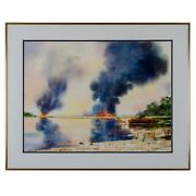 Lowcountry Watercolor Controlled Burnandrdquo By Jack Williamson