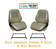 Standard Touring Ii Fully Assembled Seats And Brackets 1965 Mustang - Any Color