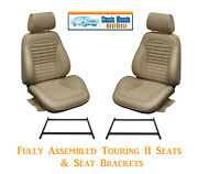 Standard Touring Ii Fully Assembled Seats And Brackets 1966 Mustang - Any Color