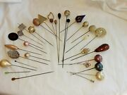 Antique Victorian Hatpin / Vintage Hat Pin Collection 31 Hat Pins