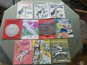 Lot Of 16 Dodger Yearbooks 1941-1974 High Grade Condition