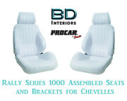 Rally 1000 Series Assembled Seats And Brackets 80-1000-53 For 1964 -1977 Chevelle