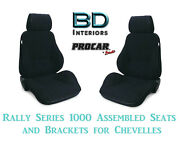 Rally 1000 Series Assembled Seats And Brackets 80-1000-61 For 1964 -1977 Chevelle
