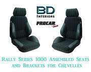 Rally 1000 Series Assembled Seats And Brackets 80-1000-71 For 1964 -1977 Chevelle