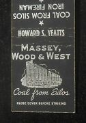 1930s Massey Wood And West Coal From Silos Fuel Oil Howard S. Yeatts Richmond Va