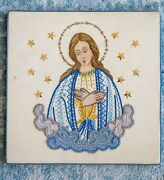 Splendid Hand Embroidered Bursa With Applique Of Our Lady Chalice Vestment Cope