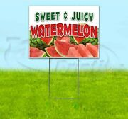 Sweet And Juicy Watermelon 18x24 Yard Sign With Stake Corrugated Bandit Usa Food