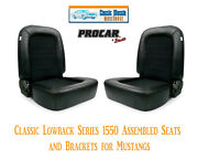 Classic Lowback Seats And Bracket Kit Procar 80-1550-71 For 1965-1998 Mustang's