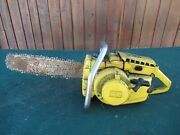 Vintage Mcculloch 1-42 Chainsaw Chain Saw With 16 Bar