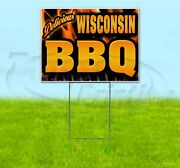 Wisconsin Bbq 18x24 Yard Sign With Stake Corrugated Bandit Usa Business Barbecue