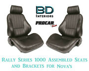 Assembled Seats And Brackets For 1963-1979 Nova 80-1000-51 Rally 1000 Series Scat