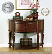 Solid Wood Console Sofa Table Cabinet Vintage Antique Display Shelf Living Room