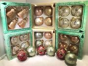30 Christmas By Krebs Glittered Glass 26 Ball Ornaments Multicolor +4 Bell Shape