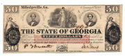 1862 The State Of Georgia Milledgeville - 50 Obsolete Note No.9670 Cr-2