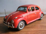 Rare Vintage Battery Powered Volkswagen Tin Toy Car Made In Japan