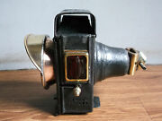 Rare Vintage Salsburyand039s Patent Iron And Brass Bicycle Head Lamp Of 40and039s.
