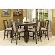 Eris Ii Transitional Counter Ht. Table With 8 Chairs Retail 3522 -pick Up In Nj