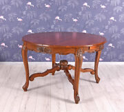 Wooden Table Mahogany Extension 160 Cm Conference Dining Antique Oval
