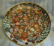 Set Of 6 Bill Bell Collectors Plates Christmas, Scaredy Cats And Etc