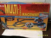 Tomy Team Afx Multi-level Raceway H.o. Scale Electronic Slot Road Racing Set