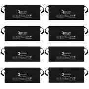 Mighty Max 12v 200ah 4d Sla Agm Battery Replacement For Solar Panels - 8 Pack