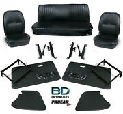 Complete Front Seat And Interior Kit For 1956-1976 Vw Karmann Ghia 80-1403 Scat