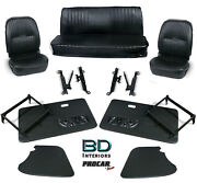 Complete Front Seat And Interior Kit For Vw Bug Beetle Convertible 80-1402 Scat
