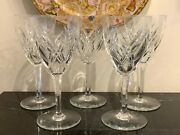 Baccarat Crystal Auvergne Perigold Tall Water Goblet Set Of 5