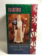 Traditions Old World Porcelain Collectible Santa Claus 8 Figurines St Nick