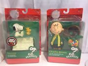 Snoopy W Doghouse Charlie Brown Christmas W Hat Scarf Pathetic Tree And Box Of Dec