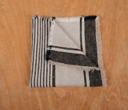 Linen Napkins Fringed French Grain Sack Stripes Placemat Cloth 100 Linen Flax